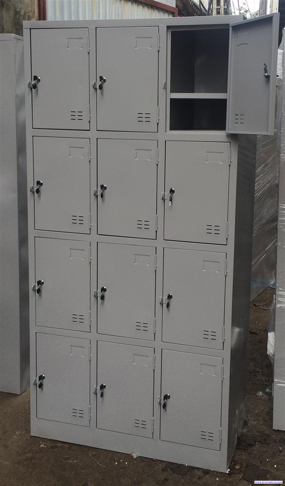 Tủ locker để giày dép công nhân 12 ngăn