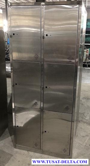 Tủ Locker Inox 6 Ngăn