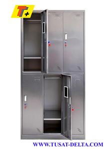 Tủ locker 6 ngăn inox